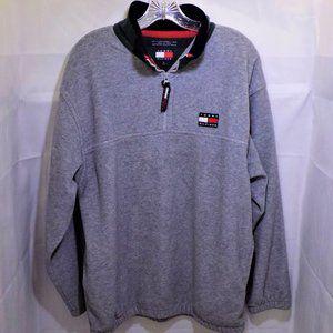 Zip Collar Sweatshirt w/Pockets, Elastic Hem